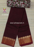 maroon soft chettinad cotton saree