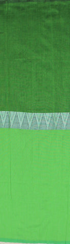 Blackish green khadi cotton saree with temple border body - lydiaspurple