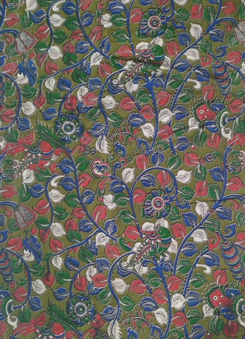 KFAB17-Multi colour Kalamkari fabric