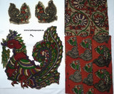 KPS01-Kalamkari patch for saree - LydiasPurple