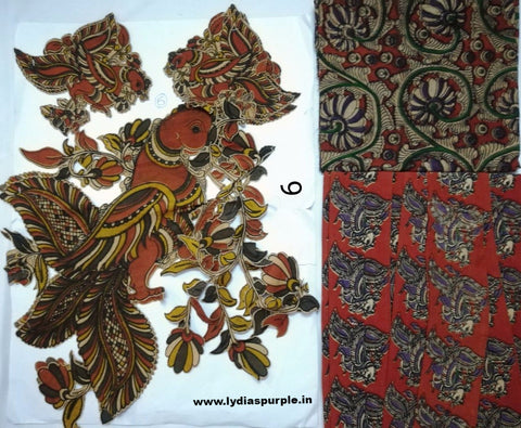 KPS06-Kalamkari patch for saree - LydiasPurple