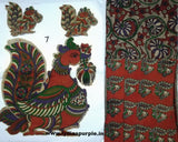 KPS07-Kalamkari patch for saree - LydiasPurple