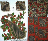 KPS14-Kalamkari patch for saree - LydiasPurple