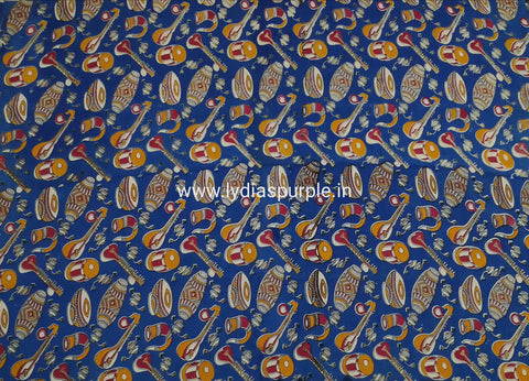 KFAB02-Multi colour Kalamkari fabric - LydiasPurple