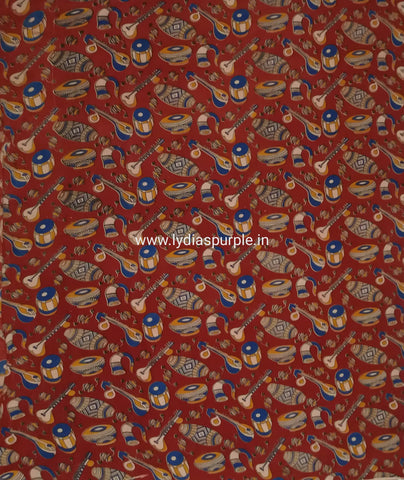 KFAB01-Multi colour Kalamkari fabric - LydiasPurple