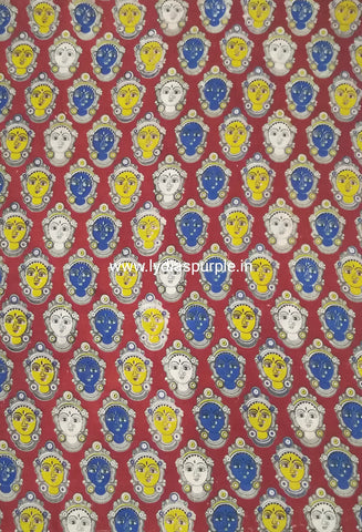 KFAB08-Multi colour Kalamkari fabric - LydiasPurple