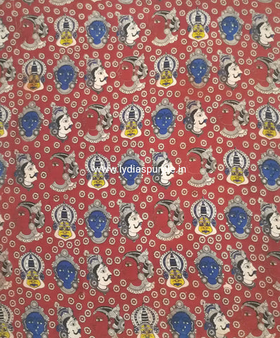 KFAB09-Multi colour Kalamkari fabric - LydiasPurple