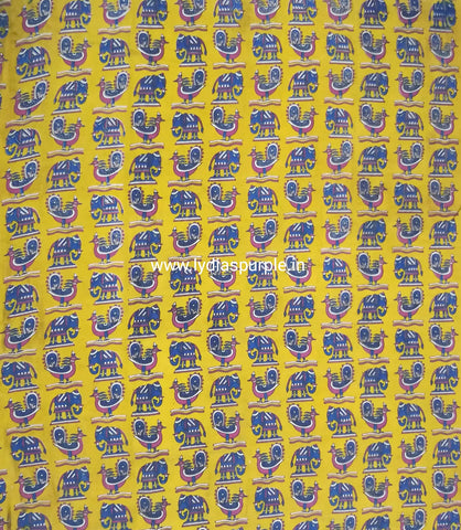 KFAB10-Multi colour Kalamkari fabric - LydiasPurple