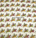 KFAB14-Multi colour Kalamkari fabric - LydiasPurple