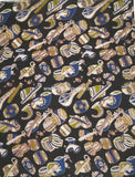 KFAB15-Multi colour Kalamkari fabric - LydiasPurple