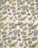 KFAB16-Multi colour Kalamkari fabric - LydiasPurple