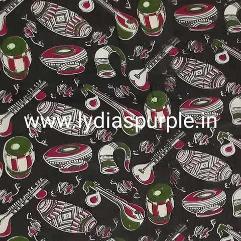 KFAB03-Multi colour Kalamkari fabric - LydiasPurple