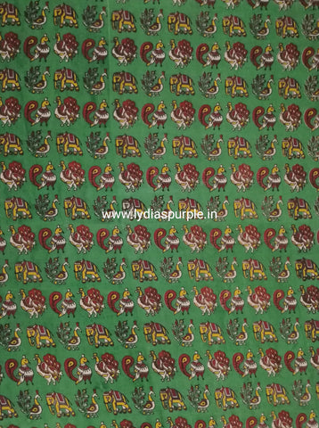 KFAB21-Multi colour Kalamkari fabric - LydiasPurple