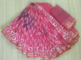DBMCS04-Designer bagru printed malmal cotton saree with blouse