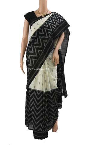 PCBW01- Pochampally ikkat Cotton Saree - LydiasPurple