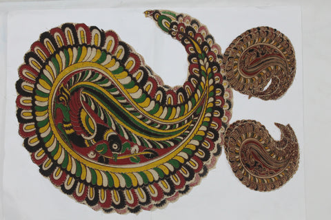 KBP04-Kalamkari patch for saree