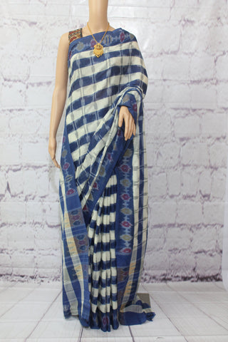 pochampally ikat cotton saree - lydiaspurple
