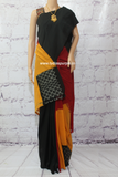 PCIRYB- Pochampally Ikat cotton designer saree with blouse multicolor Handloom - Lydiaspurple