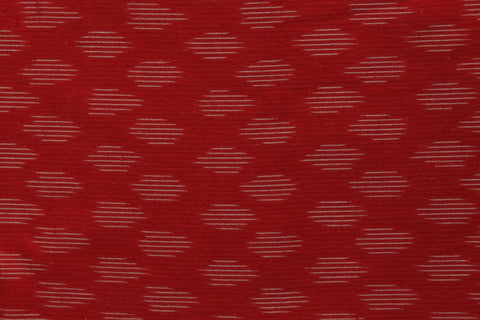 PF07-Multi colour weaved Pochampally ikkat red colour cotton fabric - Lydiaspurple