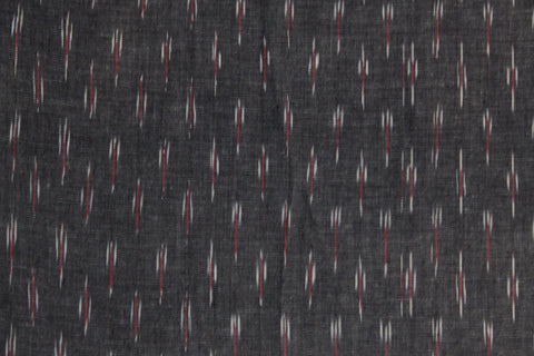 PF14-multi colour weaved Pochampally ikkat  grey colour cotton fabric - Lydiaspurple