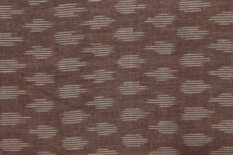 PF19-multi colour weaved Pochampally ikkat chocolate brown colour cotton fabric - Lydiaspurple