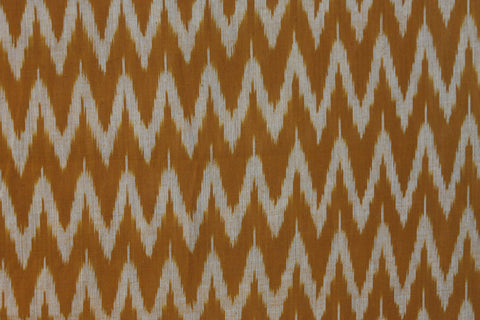 PF23-multi colour weaved Pochampally ikkat  mustard yellow colour cotton fabric - Lydiaspurple