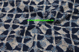 LPIFB01-Indigo malmal cotton fabric for kurti and blouse - Lydiaspurple