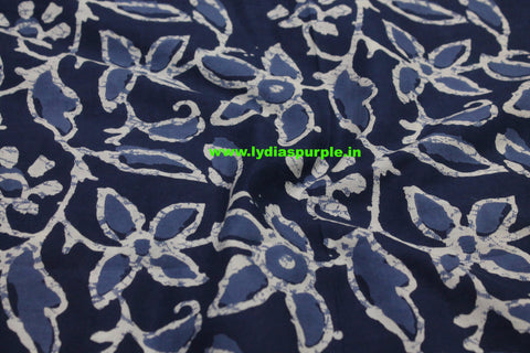 LPIFB03-Indigo malmal cotton fabric for kurti and blouse - Lydiaspurple