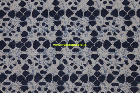 LPIFB05-Indigo malmal cotton fabric for kurti and blouse - Lydiaspurple