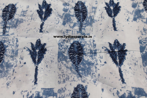 LPIFB06-Indigo malmal cotton fabric for kurti and blouse - Lydiaspurple