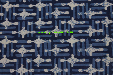 LPIFB07-Indigo malmal cotton fabric for kurti and blouse - Lydiaspurple