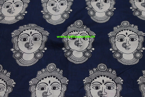 LPIFB09-Indigo malmal cotton fabric for kurti and blouse - Lydiaspurple