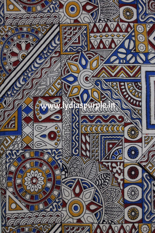 KFAB13-Multi colour Kalamkari fabric - Lydiaspurple