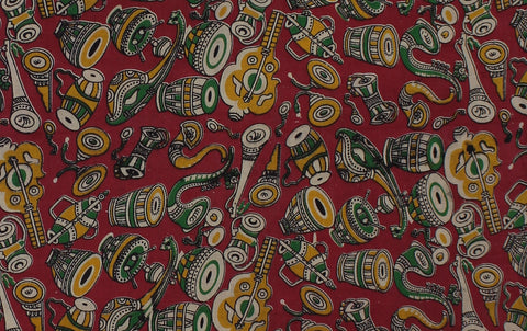 KFAB22-Multi colour Kalamkari fabric