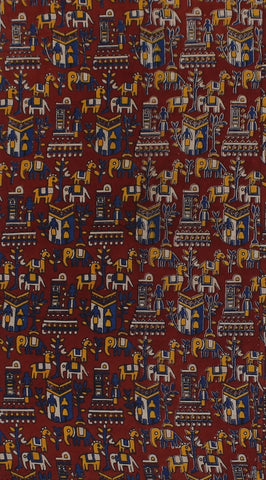 KFAB24-Multi colour Kalamkari fabric