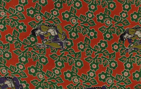 KFAB25-Multi colour Kalamkari fabric