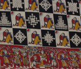 KFAB27-Multi colour Kalamkari fabric