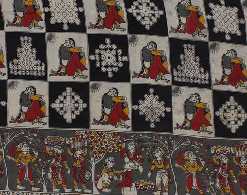 KFAB29-Multi colour Kalamkari fabric