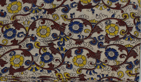 KFAB30-Multi colour Kalamkari fabric