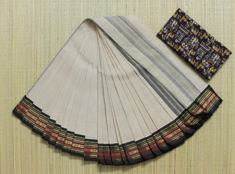 beige narayanpet cotton saree