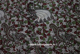 PKBG01-Multi colour Kalamkari fabric - LydiasPurple