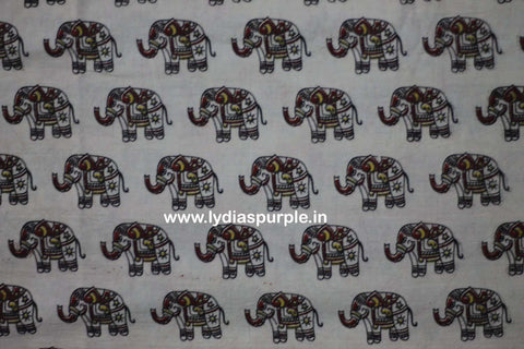 PKBGE01-Multi colour Kalamkari fabric - LydiasPurple