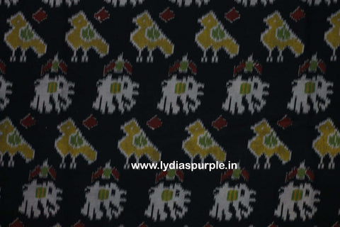 PKBI01-Multi colour Kalamkari fabric - LydiasPurple