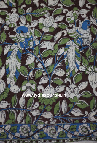 PKFGP01-Multi colour Kalamkari fabric - LydiasPurple