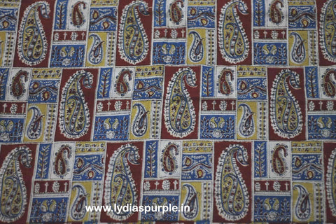 PKRBM01-Multi colour Kalamkari fabric - LydiasPurple