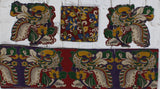 RPPBBSET-Kalamkari patch set  for saree with border,blouse and patches