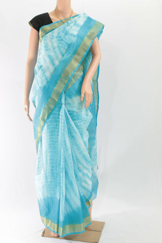KSB-kota Doria shibori dyed All Over mercerised cotton saree - LydiasPurple