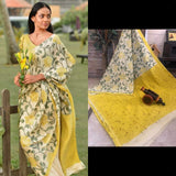 DMCS02- Designer multi colour shibori malmal cotton saree with blouse