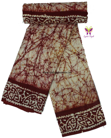 CBCMBRE-crack bathik cotton malmal  saree - LydiasPurple
