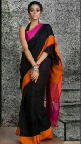 black linen saree - lydiaspurple